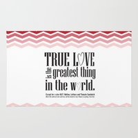 princess bride Area & Throw Rugs featuring Princess bride funny quote... true love is the greatest thing in the world... except for a nice MLT by studiomarshallarts