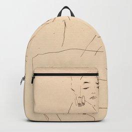 Egon Schiele - Couple embracing Backpack
