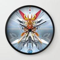 gundam Wall Clocks featuring Monark by Andre Villanueva