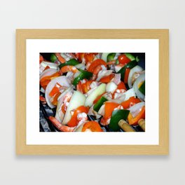 Shrimps Framed Art Print