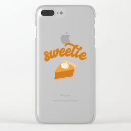 Thanksgiving Turkey Pumpkin Pie Pun Funny Apparel Gift Clear iPhone Case