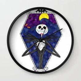 Day of Dead Jack Wall Clock