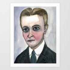 This Side of Fitzgerald, F. Scott Fitzgerald Literary Portrait Art Print