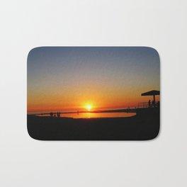 Californian Ocean sunset Bath Mat