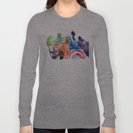 Iconic Comic Book Super Heroes ft. Iron Man  Long Sleeve T-shirt