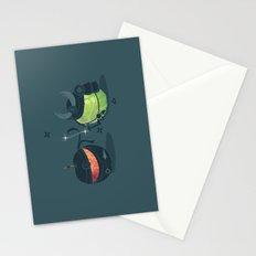 ninja vs samurai Stationery Cards