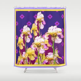 Iris Garden In Shades Of Purple Shower Curtain