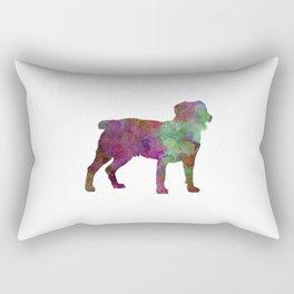 Appenzell Cattle Dog in watercolor Rectangular Pillow