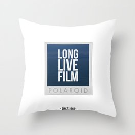 Long Live Film  Throw Pillow