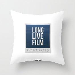 Long Live Film  Throw Pillow