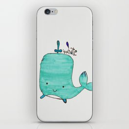 Whale you be my Valentine? iPhone Skin