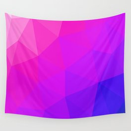 Magenta and Violet Low Poly Pattern Wall Tapestry
