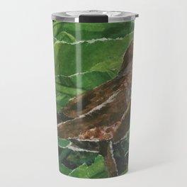 Brown Bird in the Green Grass Travel Mug