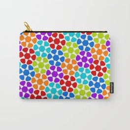 Multi-Coloured Flower Pattern Carry-All Pouch