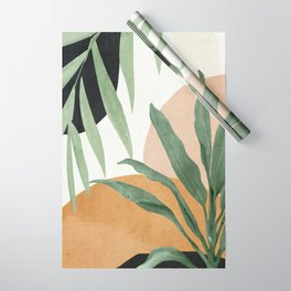 Abstract Art Tropical Leaves 4 Wrapping Paper