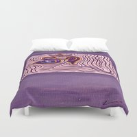 om Duvet Covers featuring om by Loosso