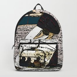 Sliding In - Snowboarder Fool Backpack
