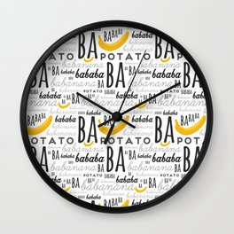 Minion - banana Wall Clock