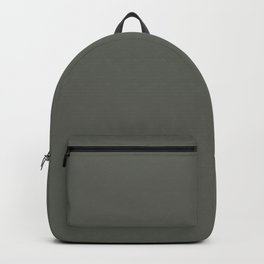 Dark Pine Green Solid Color Pairs w/ Sherwin Williams Haven 2020 Forecast Color Pewter Green SW6208 Backpack