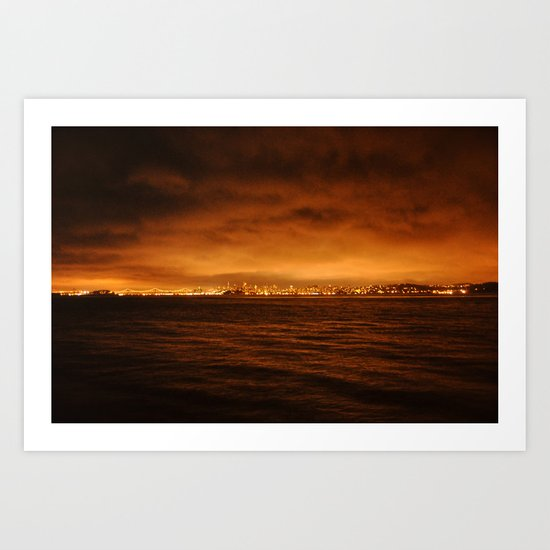 VIEW FROM FORT BAKER II Art Print