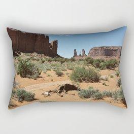Monument Valley Horse Carcass Rectangular Pillow