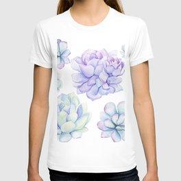 Pastel Echeveria #society6 #buyart T-shirt
