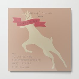 The Deer Hunter, Minimal movie poster, Michael Cimino film, alternative, Christopher Walken, De Niro Metal Print