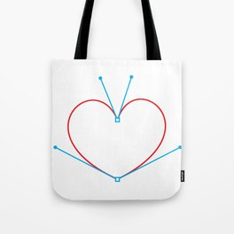 Bezier Love Tote Bag
