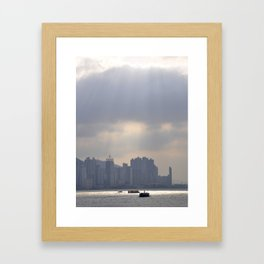 Hong Kong Harbour Framed Art Print
