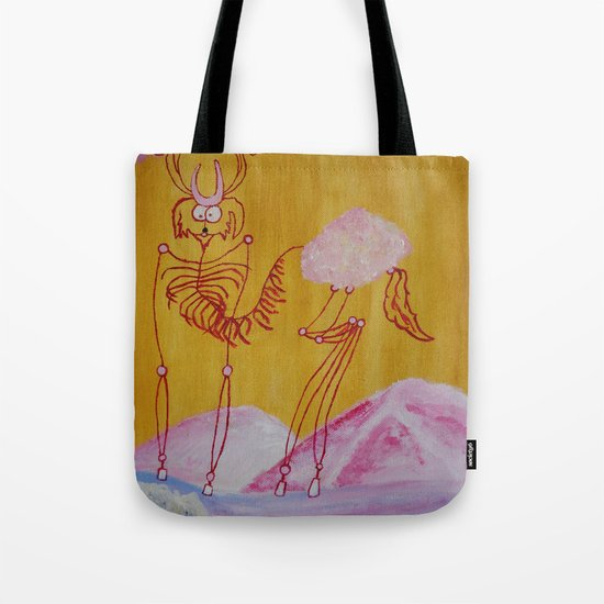 Thin Cartoon Deer Tote Bag