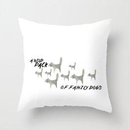 Family Dogs Throw Pillow