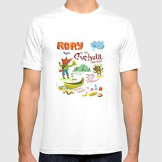 Rory In The Cuchula Mountains MEDIUM White Mens Fitted Tee