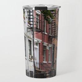 Picturesque street view in Greenwich Village, New York Travel Mug