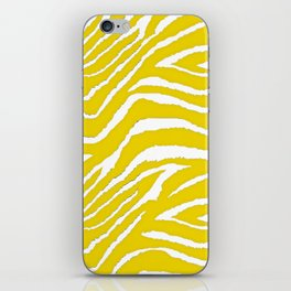 Zebra Golden Yellow iPhone Skin