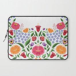Hungarian folk pattern – Kalocsa embroidery flowers Laptop Sleeve