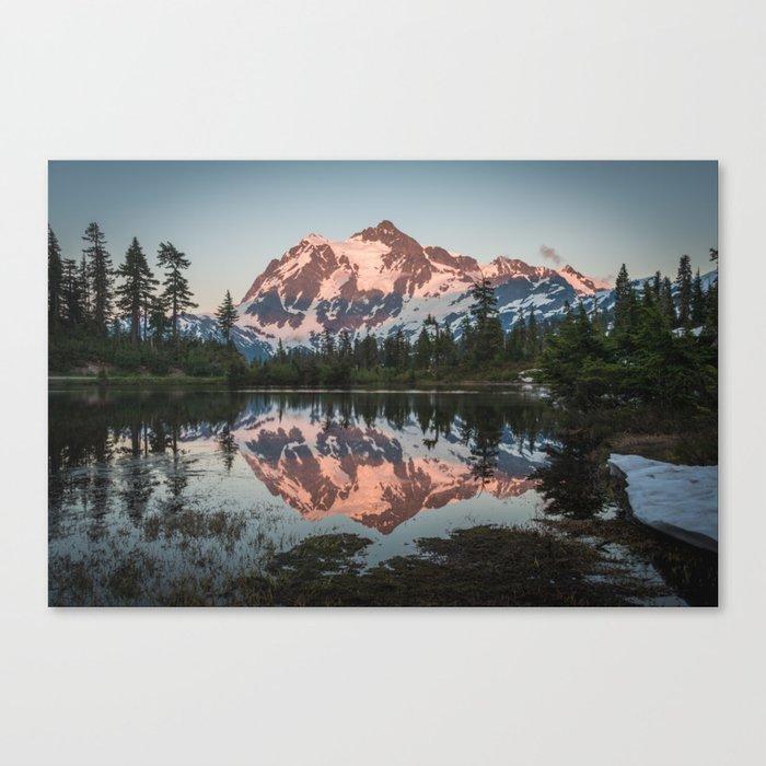 Cascade Sunset - Mt. Shuksan - Nature Photography Canvas Print