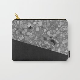 Terrazzo Texture Grey Black #7 Carry-All Pouch