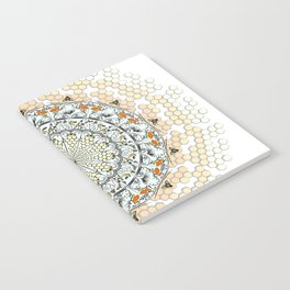 Overlapping Bee Mandala (Color) Notebook