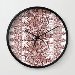 Mahogany Lace Wall Clock