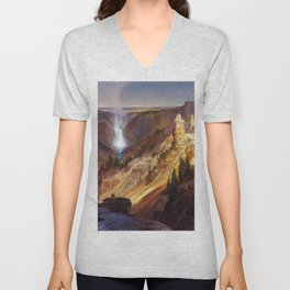The Grand Canyon of the Yellowstone by Thomas Moran Unisex V-Neck