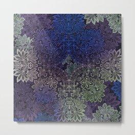 lace weave in deep blues Metal Print