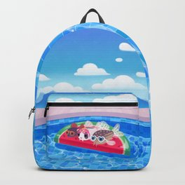Cory cats in the swimming pool Backpack