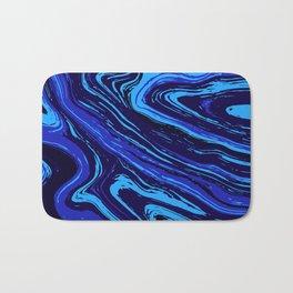 Abstract blue vivid agate slice Bath Mat