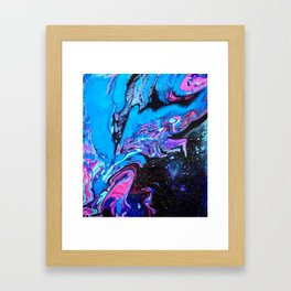 Cascade Blue Framed Art Print