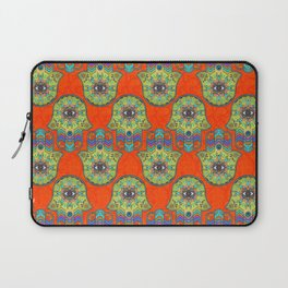 Colorful  Hamsa Hand pattern with paisley Laptop Sleeve