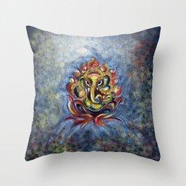 AUM Ganesha Throw Pillow