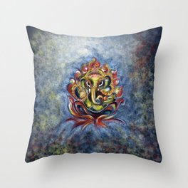 AUM Ganesha Throw Pillow