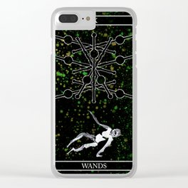 A Tarot of Ink 09 of Wands Clear iPhone Case