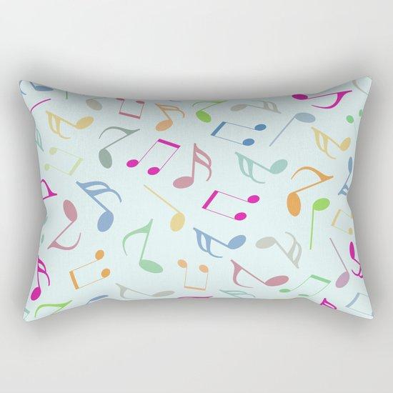 Music Colorful Notes Rectangular Pillow