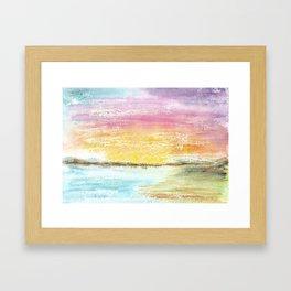 Magic Sunset Watercolor Art Framed Art Print